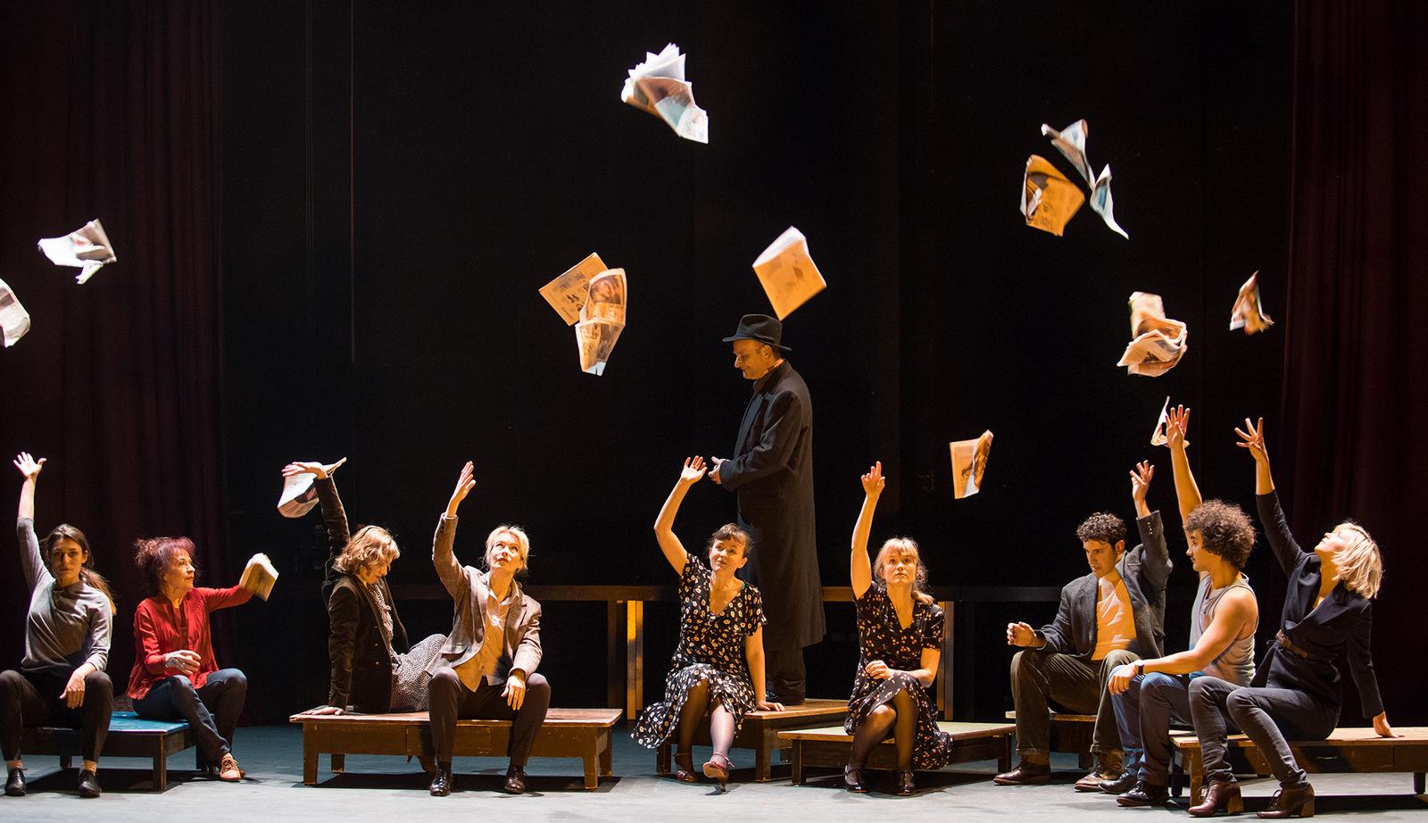 Le Dernier Métro – Adaptation et mise en scène Dorian Rossel © Carole Parodi