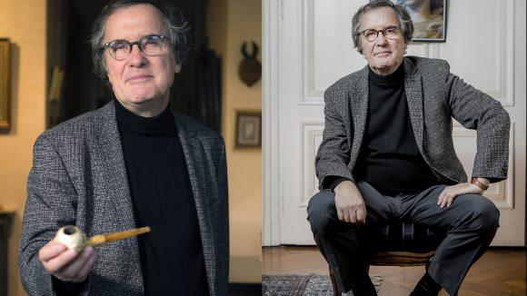 L'historien Bruno Benoit, chez lui, à Lyon, en 2017 © Tim Douet