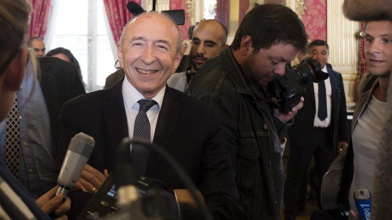Gérard Collomb, à l'hôtel de ville de Lyon, le 17octobre 2018 © Tim Douet