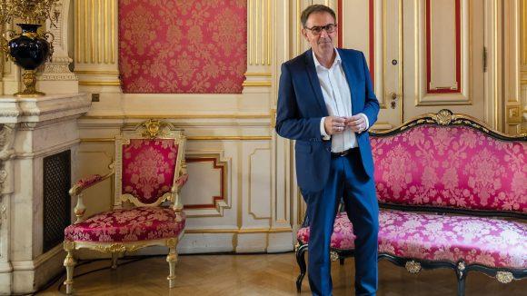 David Kimelfeld, à l'hôtel de ville de Lyon, le 17octobre 2018 © Tim Douet