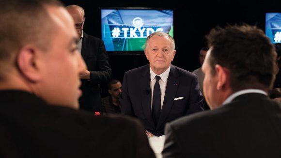 Jean-Michel Aulas sur le plateau de l'émission Tant qu'il y aura des gones © Tim Douet