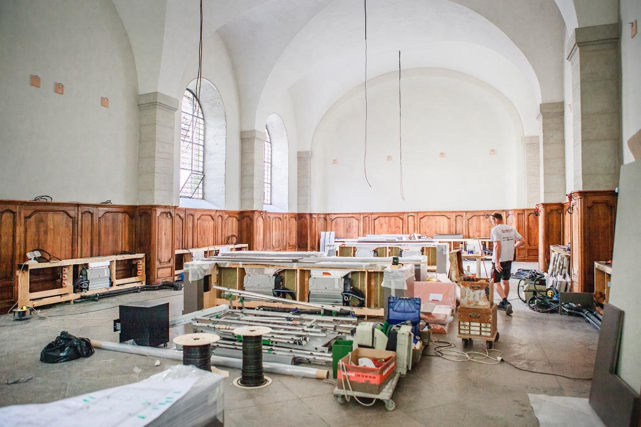 Grand Réfectoire de l'Hôtel-Dieu en travaux © Tim Douet