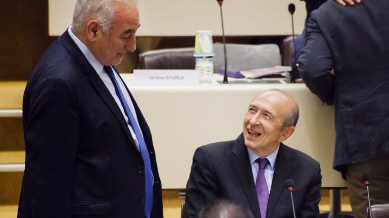 Georges Képénékian et Gérard Collomb à la métropole
