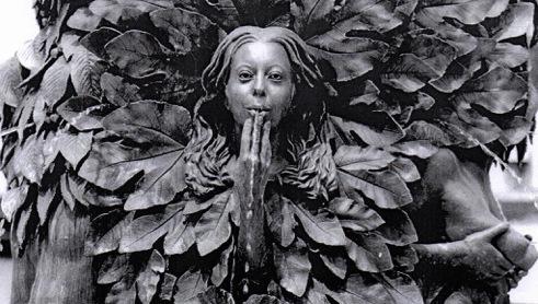 Le Buisson ardent (détail) – Sculpture-fontaine de Geneviève Böhmer (Lyon, place Guichard) © DR