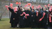 Rassemblement des soutiens à Collomb sur les quais du Rhône, en janvier 2008 © RRF