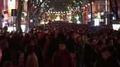 La foule à Lyon pendant la Fête des lumières 2016 © Jean-Philippe Ksiazek / AFP