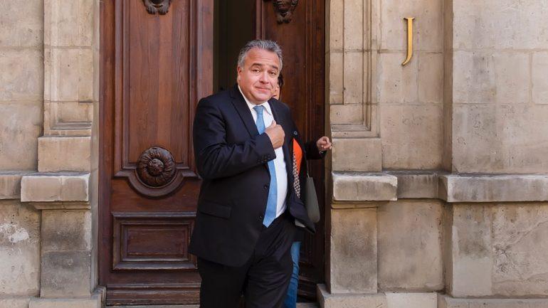 Denis Broliquier à la mairie de Lyon, le jour de la réélection de Gérard Collomb © Tim Douet – 5/11/18