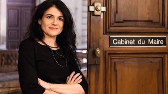 Nathalie Perrin-Gilbert, à l'hôtel de ville de Lyon –novembre 2018 © Tim Douet