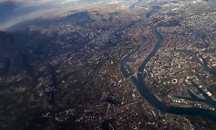 Lyon vu d'avion © P.Laplace