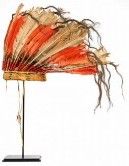 Coiffe amérindienne issue de la collection Galbert © Musée des Confluences