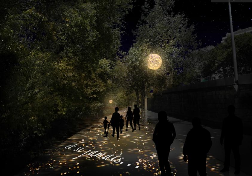 Fête des lumières 2018 – Présages, au parc de la Tête-d'Or (prévisualisation) © Marie-Jeanne Gauthé & Géraud Périole