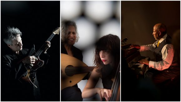Marc Ribot / Kamilya Jubran & Sarah Murcia / Hailu Mergia © Barbara Rigon / Marc Domage / Philipp Jester (montage LC)