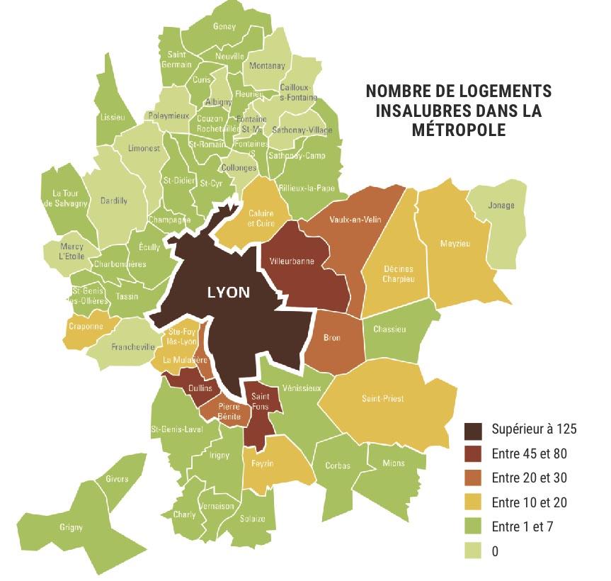 Localisation du logement insalubre dans le Rhône © Lyon Capitale