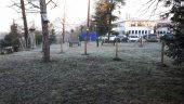 Square de Charbonnières qui doit être aménagé pour créer une voie d'accès au site des Verrières - Photo DR