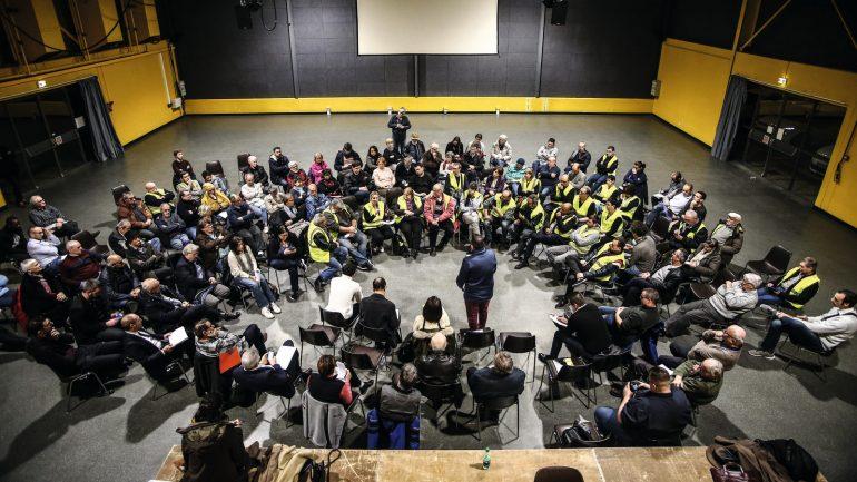 Grand débat à Grigny, le 17janvier 2019 © Antoine Merlet
