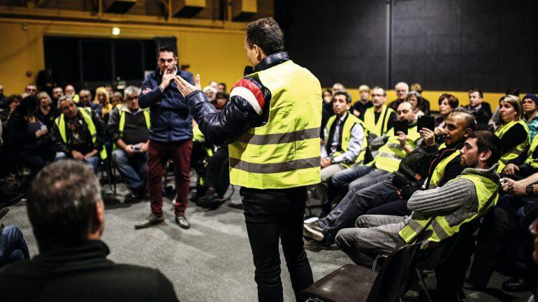 """""""Grand débat"""" à Grigny, le 17janvier 2019 © Antoine Merlet"""
