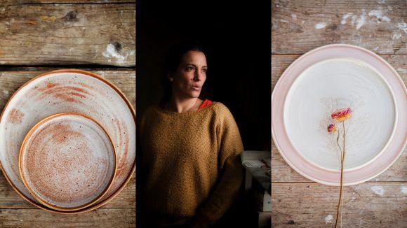 La céramiste Hortense Montarnal et quelques-unes de ses créations © Tim Douet