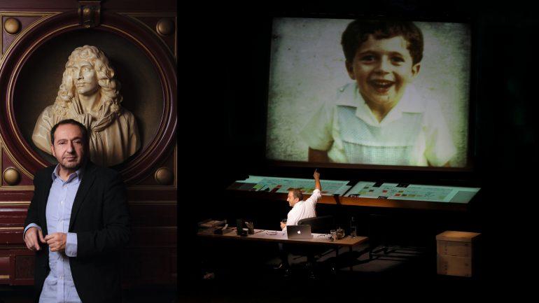 """Patrick Timsit, à l'affiche des Célestins avec une adaptation du """"Livre de ma mère"""" d'Albert Cohen © Tim Douet / Pascal Victor (montage LC)"""