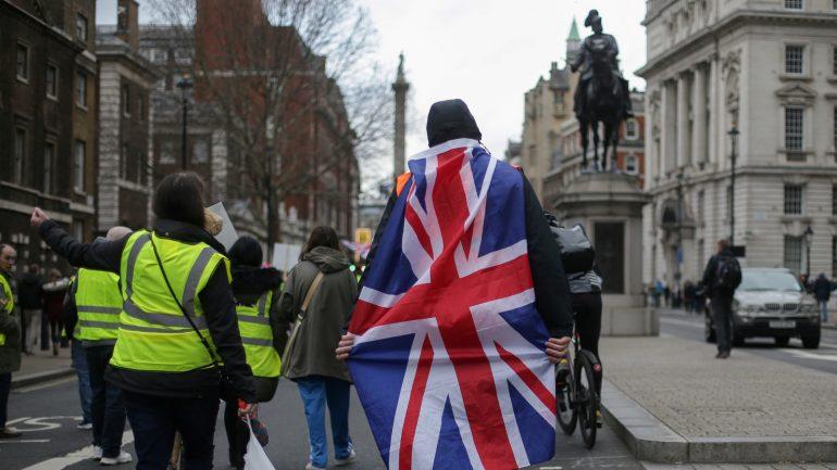 Manifestation de militants pro-Brexit à Londres, le 26janvier 2019 © Daniel Leal-Olivas / AFP