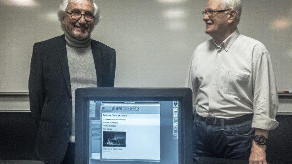 Daniel Charnay et Wojciech Wojcik derrière le premier site Web français