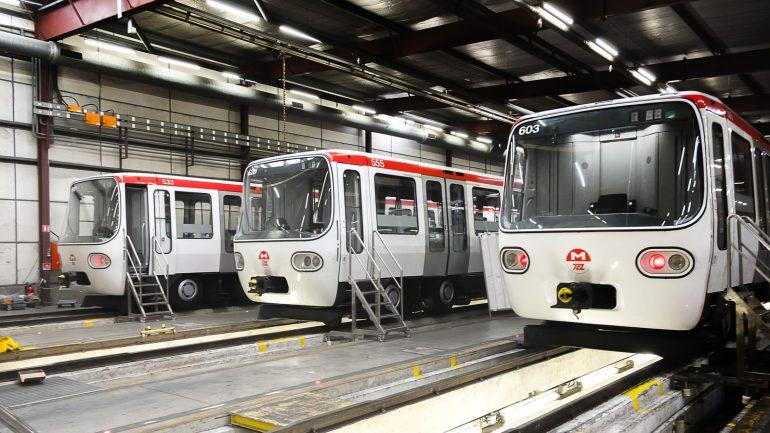 Entrepôt de réparation des métros lyonnais © Tim Douet
