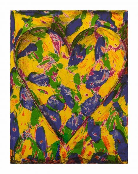 Jim Dine – Blue Heart, 2005. Lithographie originale sur vélin d'Arches (galerie Françoise Besson)