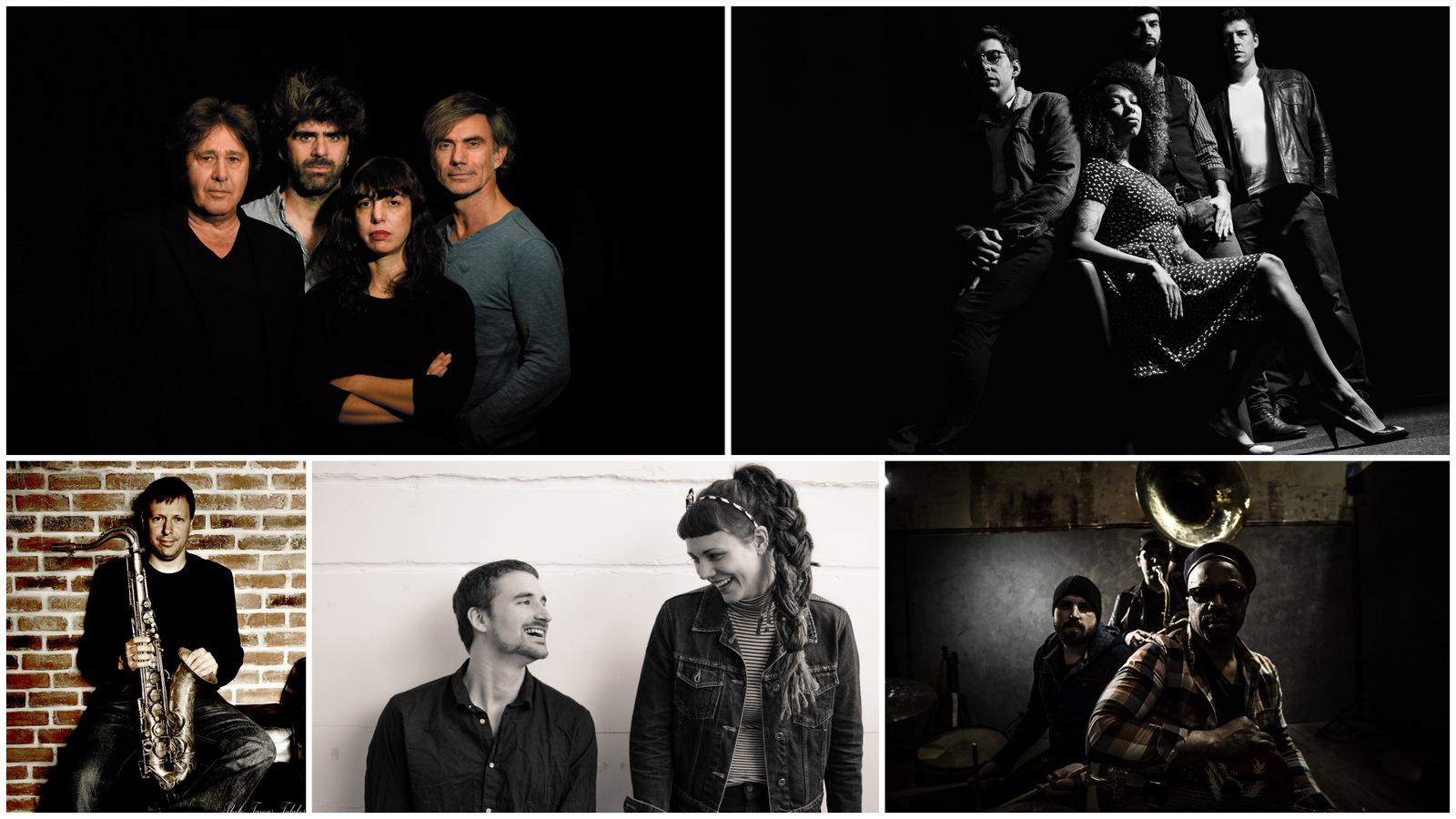 Louis Sclavis Quartet © Luc Jennepin / The Buttshakers / Chris Potter © Tamas Talaber / Obradovic-Tixier Duo / Delgrès © Rémy Solomon (montage LC)