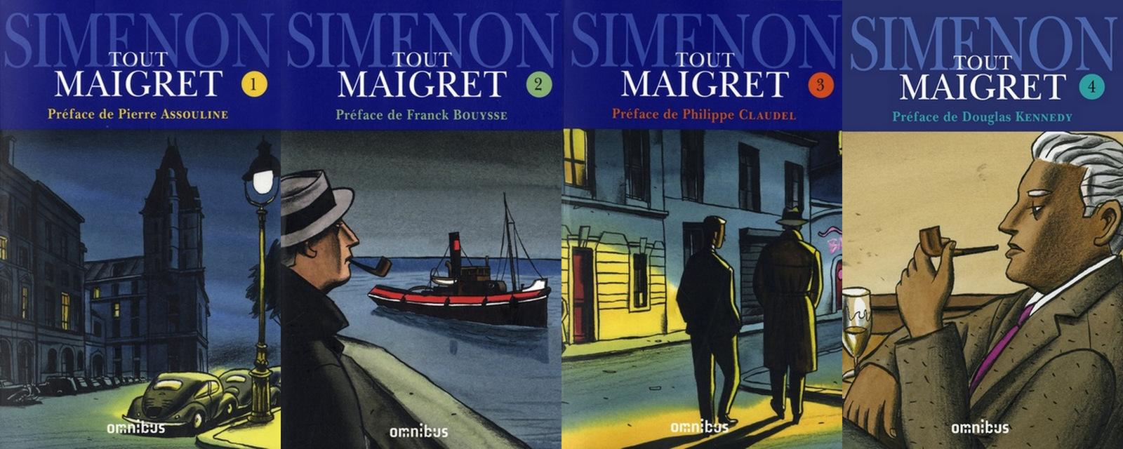 Simenon par Loustal – Tout Maigret 1-2-3-4  (Omnibus)