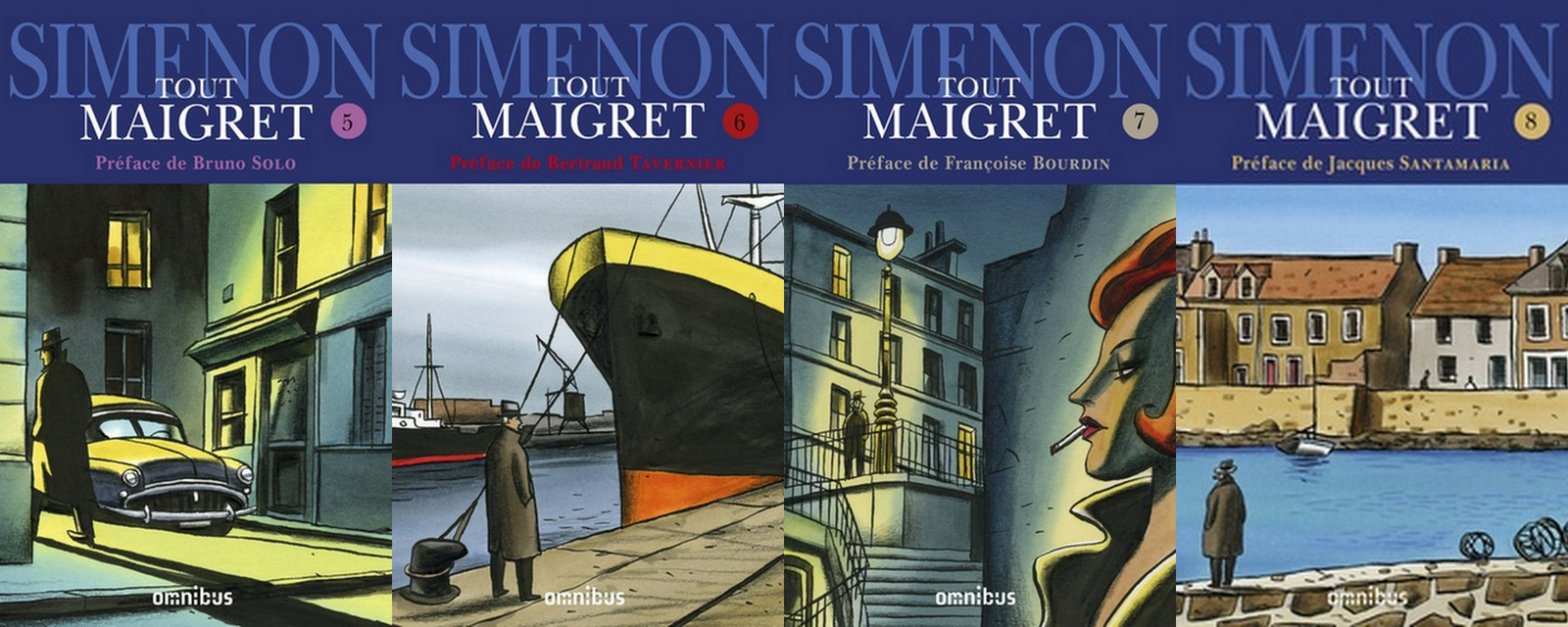 Simenon par Loustal – Tout Maigret 5-6-7-8 (Omnibus)