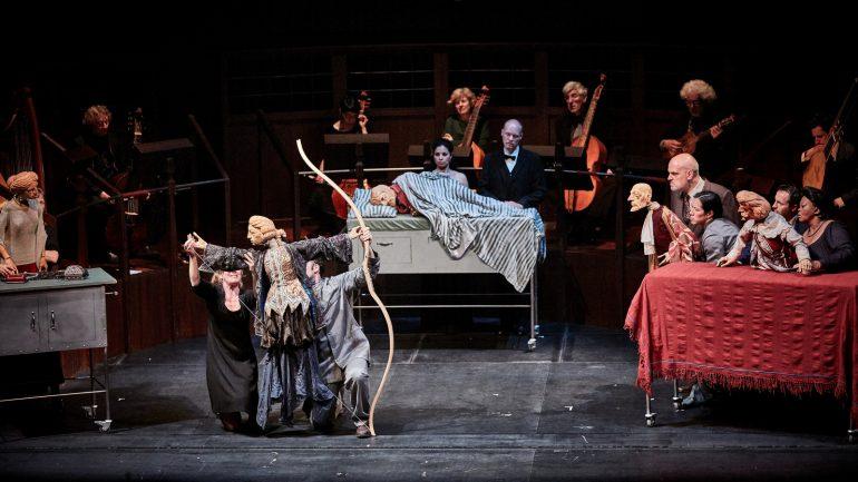 Le Retour d'Ulysse, opéra de Monteverdi – Mise en scène William Kentridge, avec la Handspring Puppet Company © ICK HEO