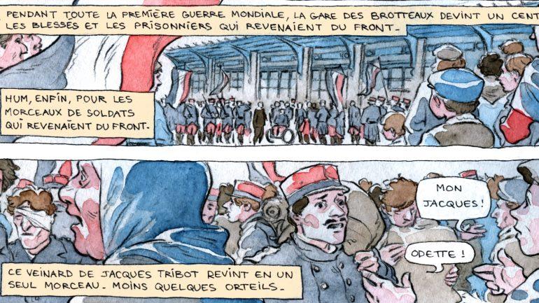 Image extraite de la BD parue dans Lyon Capitale n°785 © Julie Ricossé