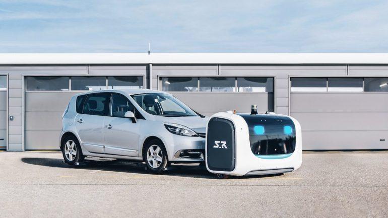 a l 39 a roport lyon saint exup ry les robots garent votre voiture vid o. Black Bedroom Furniture Sets. Home Design Ideas