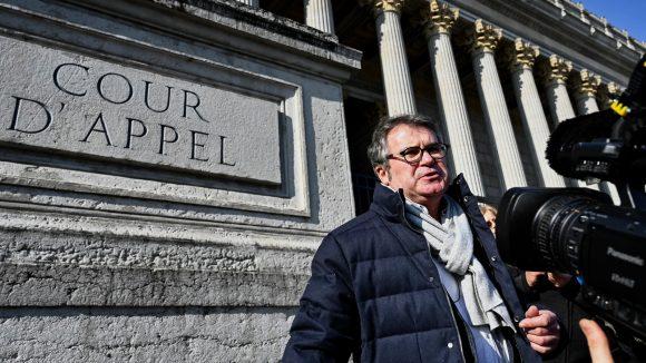 Paul Francois, devant la cour d'appel de Lyon, le 6février 2019 © Jeff Pachoud / AFP