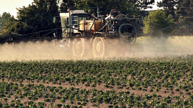 Epandange de pesticides dans le nord de la France en 2012 © Philippe Huguen / AFP