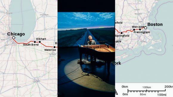 Gabriel Kahane © Josh Goleman // Carte du Lake Shore Limited ©CCBY-SA 4.0