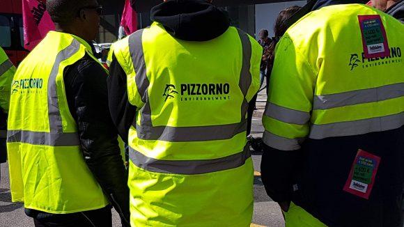Manifestation devant la Métropole des salariés de Pizzorno © Simon Alves
