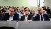 David Kimelfeld, avec Thomas Rudigoz (au centre) et Jean-Louis Touraine (à droite), au grand débat sur les européennes organisé par Lyon Capitale et Sciences Po Lyon, le 22mai 2019 © Antoine Merlet