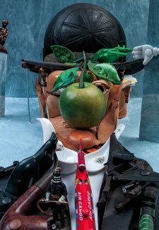 Bernard Pras – Magritte à la pomme, 2018.