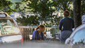 Campement de Roms le long du jardin des Chartreux – Lyon4e © Antoine Merlet