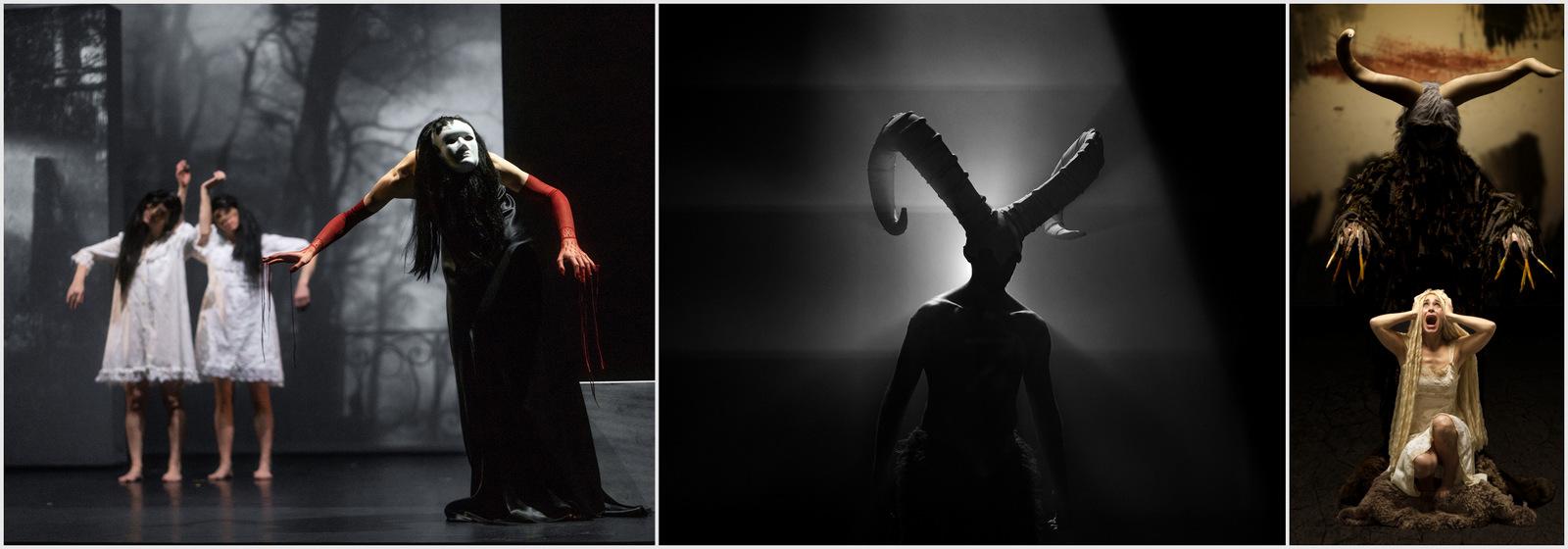 """Trois tableaux de l'""""Anthologie du cauchemar"""" du Système Castafiore © Pasquini / Karl Biscuit (montage LC)"""