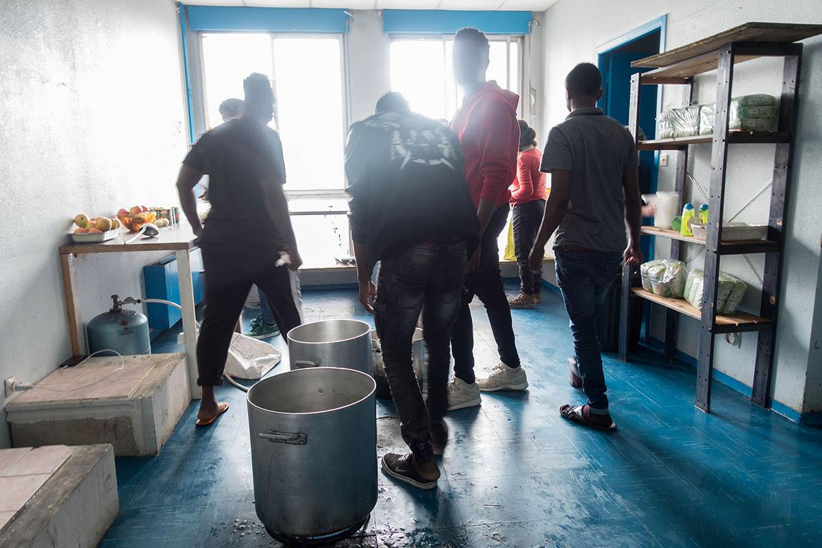 La vie quotidienne au squat Maurice-Scève © Simon Alves