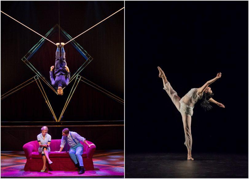 L'Hotel du cirque Eloize et l'étoile du Bolchoï Natalia Osipova © DR / Johan Persson (montage LC)