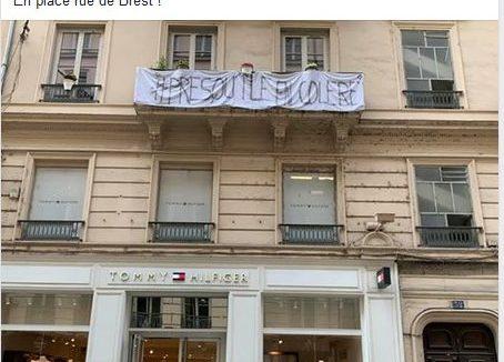 Des draps aux fenêtres contre les incivilités. Facebook du collectif Presqu'île en colère