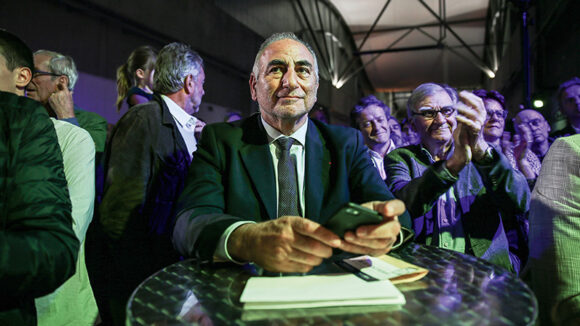Georges Képénékian, au meeting d'entrée en campagne de David Kimelfeld, le 16octobre 2019 à Lyon © Antoine Merlet