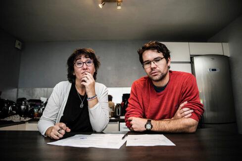 Membres du collectif La Guillotière en colère, à Lyon, en octobre 2019 © Antoine Merlet