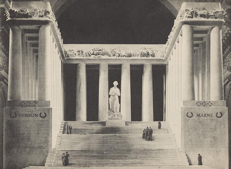 Tony Garnier – Projet de monument aux morts de la guerre de 14-18 à la Croix-Rousse [Archives municipales de Lyon]