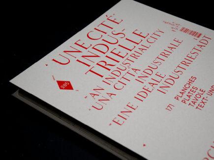 """Couverture de l'ouvrage """"Une cité industrielle"""", éditions 205"""