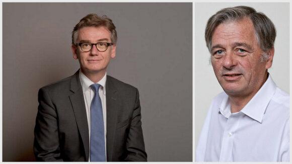 De gauche à droite: Pascal Charmot, maire de Tassin, et Cyrille Isaac-Sibille, député de la circonscription de Sainte-Foy © DR / Tim Douet (montage LC)