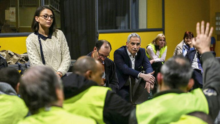 Le député du Rhône Jean-Luc Fugit, lors d'une réunion du Grand Débat national, en janvier 2019 © Antoine Merlet