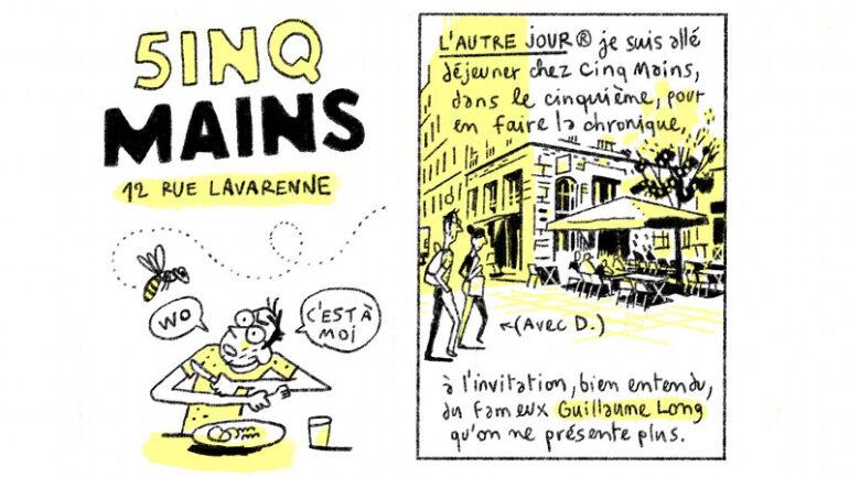 2 cases de la planche parue dans Lyon Capitale 793 © Benjamin Adam